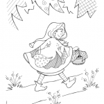 Dessin à colorier: le Petit Chaperon rouge