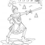 Dessin à colorier: le chevalier