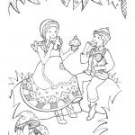 Dessin à colorier: Hansel et Gretel